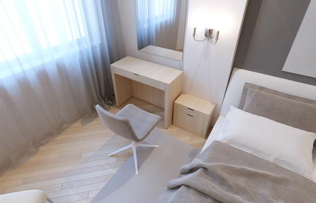 Kaptafel in de slaapkamer