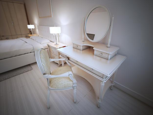 Kaptafel in slaapkamer provence