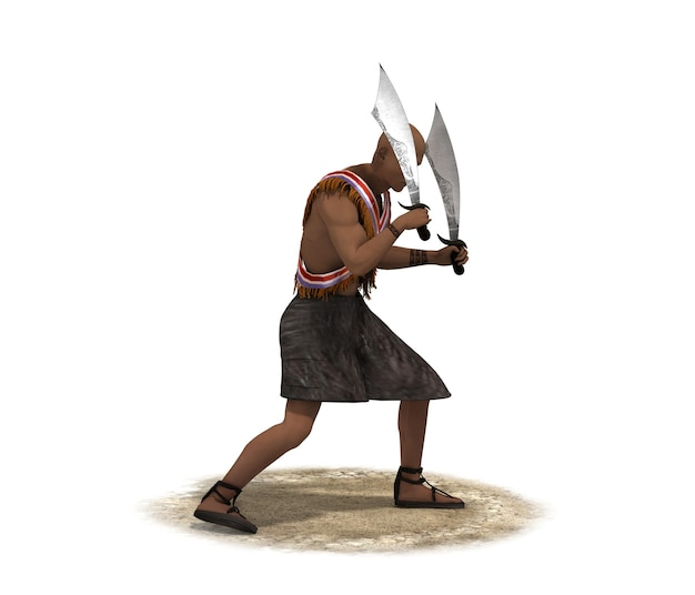 Karakter van een middeleeuwse man 3d karakter