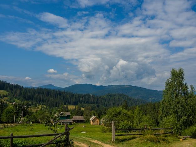 Karpatenlandschap met bewolkte lucht