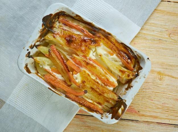 Kartoffelkager og hamburgerryg - aardappeltaart in deens design