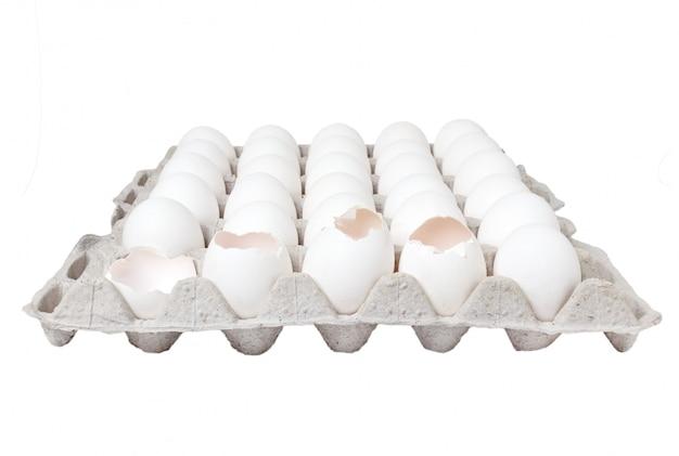 Karton van geïsoleerde eieren