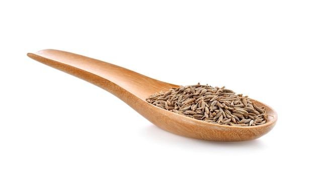Karwijzaad in houten lepel