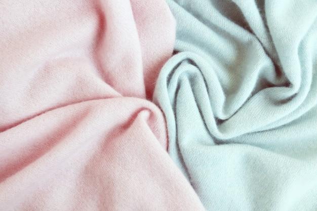 Kasjmier textuur natuurlijke wol gedrapeerd bovenaanzicht concept van winter en herfst comfort