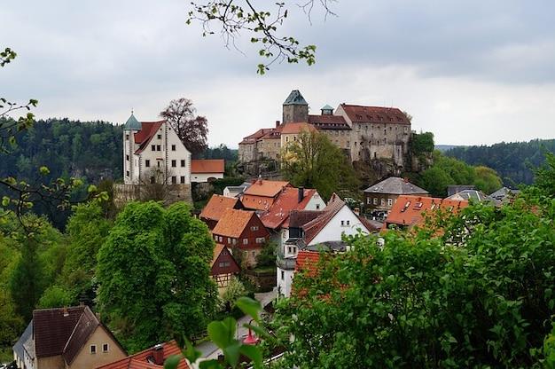Kasteel hohnstein hoogte burg rots