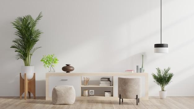 Kasten en muur voor tv in de woonkamer,