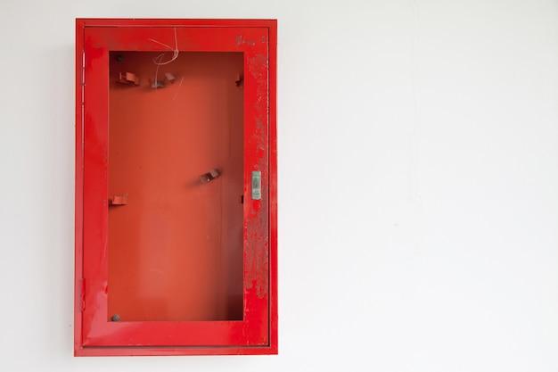 Kasten voor brandblussers.