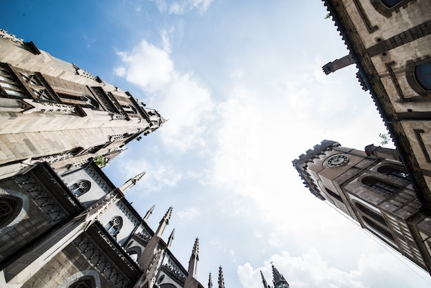 Kathedraal oog van onderen