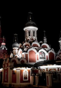 Kathedraal van de kazan op het rode gebied in moskou.