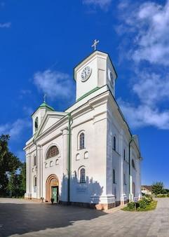 Kathedraal van de veronderstelling in memorial park in kaniv, oekraïne, op een zonnige zomerdag