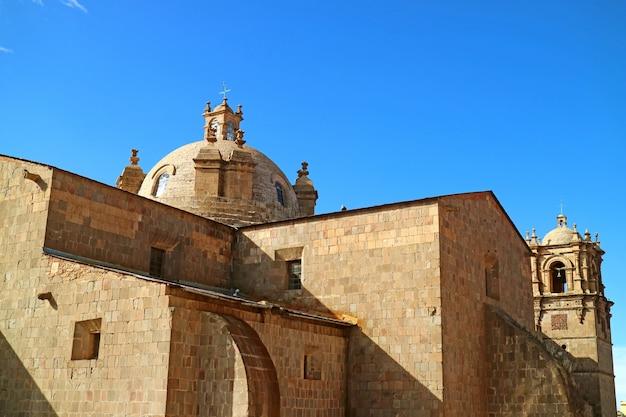 Kathedraal van puno, peru of catedral basilica san carlos borromeo in puno, de stad van peru