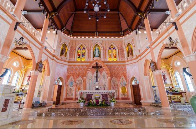 Katholieke kathedraal interieur