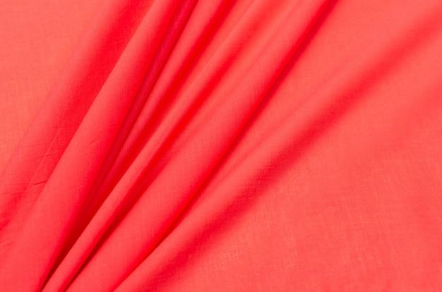 Katoenen stof cambric rood