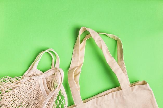 Katoenen tassen voor gratis plastic boodschappen