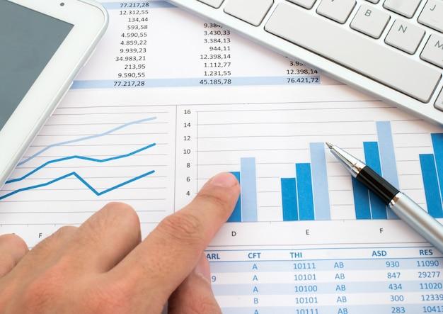 Kayboard over financiële rapporten