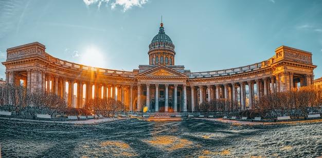Kazan-tempel - grootste architecturale creatie. sint petersburg. rusland.