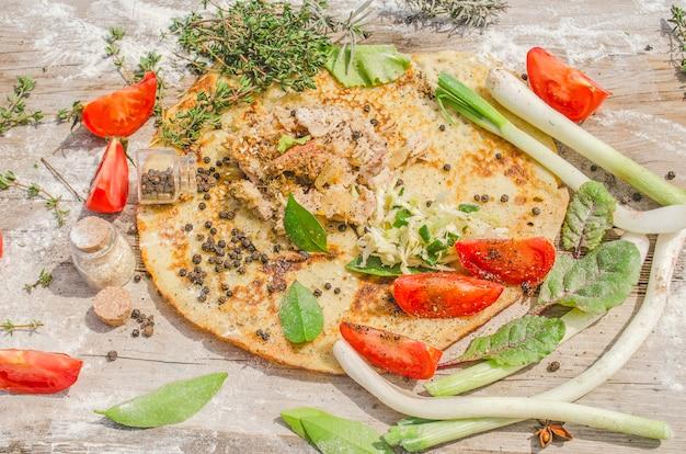 Kebab of gyros pita