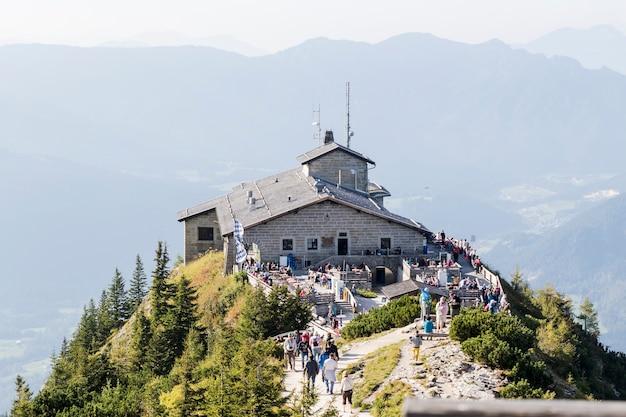 Kehlstein en eagles nestelen in de beierse alpen