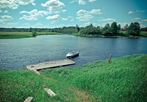 Ken river valleyarkhangelsk regio rusland