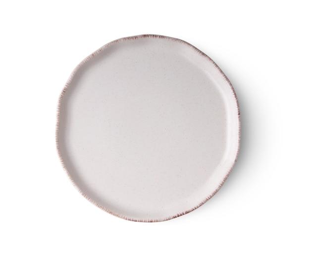 Keramische plaat geïsoleerd op wit