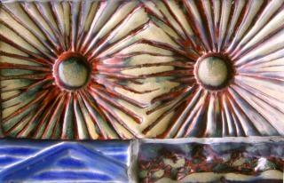 Keramische tegels, kleurrijke