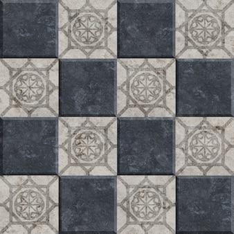 Keramische tegels met een natuursteenstructuur met patronen.