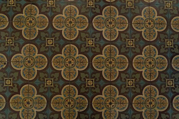 Keramische tegels, vintage sierlijk patroon, abstracte geometrie