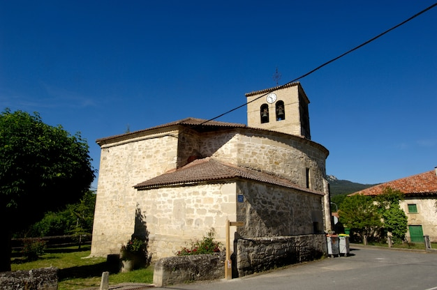 Kerk, espejo, alava, baskenland, spanje, religie, gebouw, dag