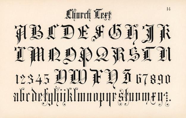 Kerk tekst lettertypen