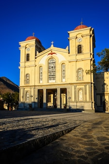 Kerk van panagia in neapoli, kreta, griekenland
