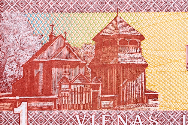 Kerk van sint-jozef in paluse van litouws geld