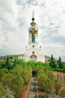 Kerk van st. nicholas the wonderworker op de krim