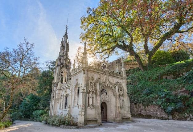 Kerk voor gebed. bij quinta regaleira, portugal, sintra.