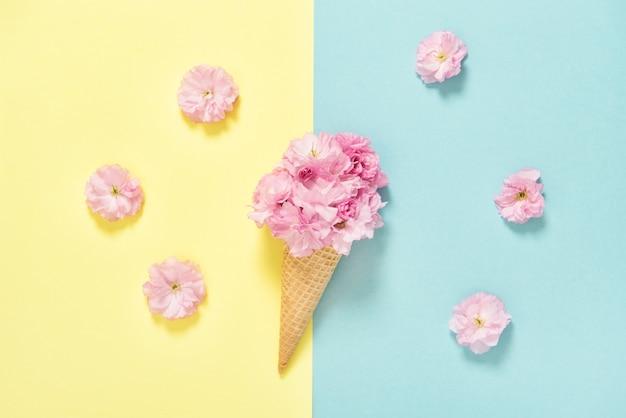 Kersenboom bloesem roze bloemen floral plat lag