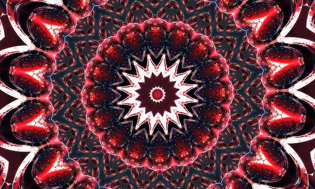 Kersenfruit donkere wijntextuurachtergrond met geometrisch patroonontwerp en caleidoscoopconcept