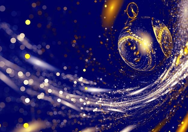 Kerst achtergrond, fractal kerstballen, kerstkaart