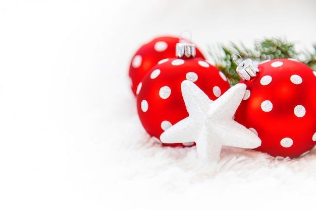 Kerst achtergrond. gelukkig nieuwjaar. selectieve aandacht