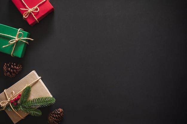 Kerst achtergrond met cadeau aanwezig