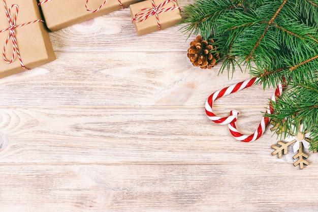 Kerst achtergrond met decoraties