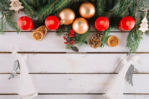 Kerst achtergrond met engelen