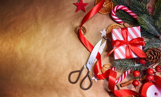 Kerst achtergrond met geschenkdoos