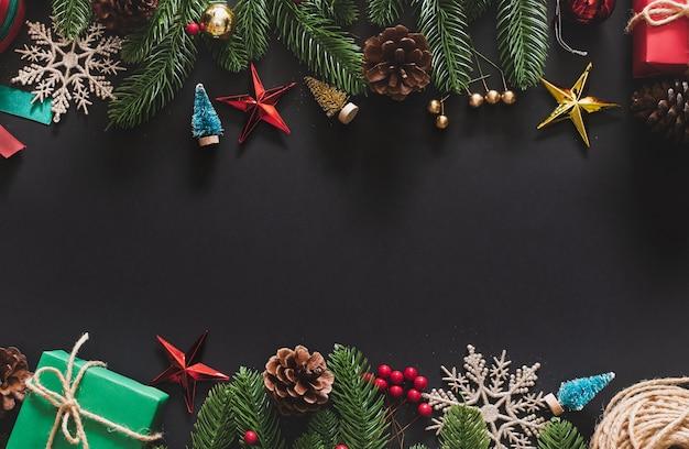 Kerst achtergrond met kerstversiering
