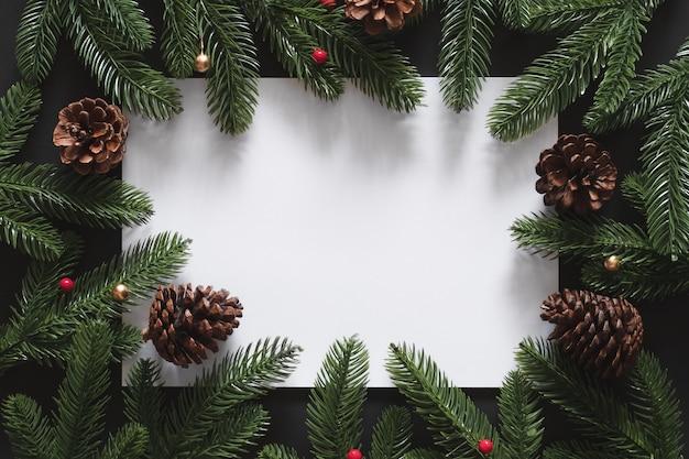 Kerst achtergrond met lege lege kopie ruimte