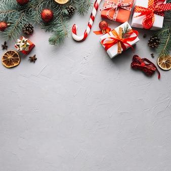 Kerst achtergrond met ruimte op bodem