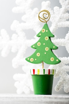 Kerst achtergronden. kerst decor op de achtergrond wazig.