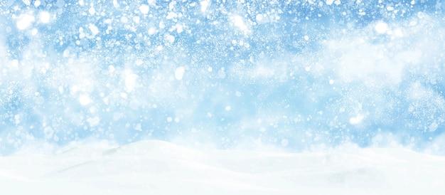 Kerst achtergrondontwerp van sneeuw vallende winterseizoen illustratie