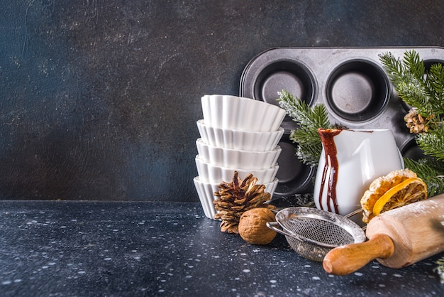 Kerst bakken tools