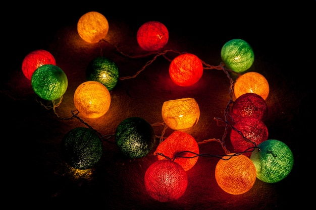 Kerst bal lichten achtergrond.