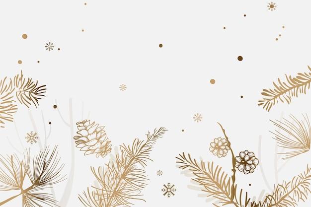 Kerst besneeuwde feestelijke achtergrond met ontwerpruimte