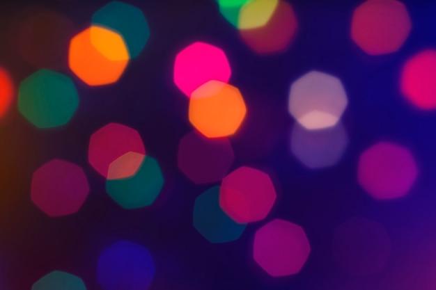 Kerst bokeh filmisch effect intreepupil zevenhoek van verlichte lichten
